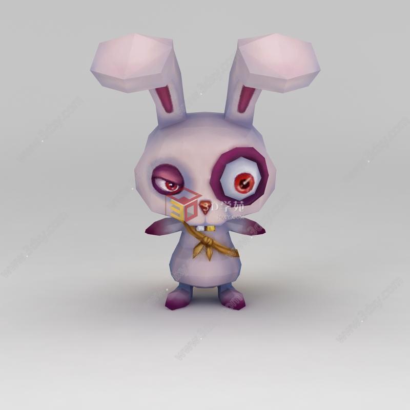 q版小鱼儿与花无缺游戏角色兔子模型