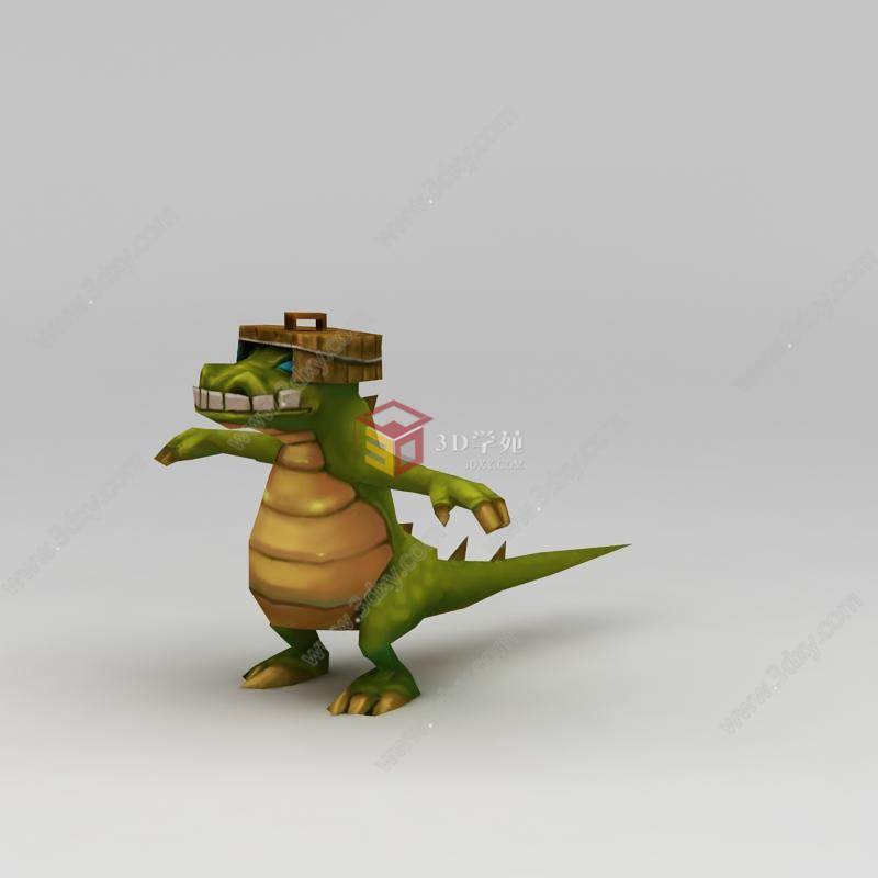 q版小鱼儿与花无缺游戏角色乌龟模型