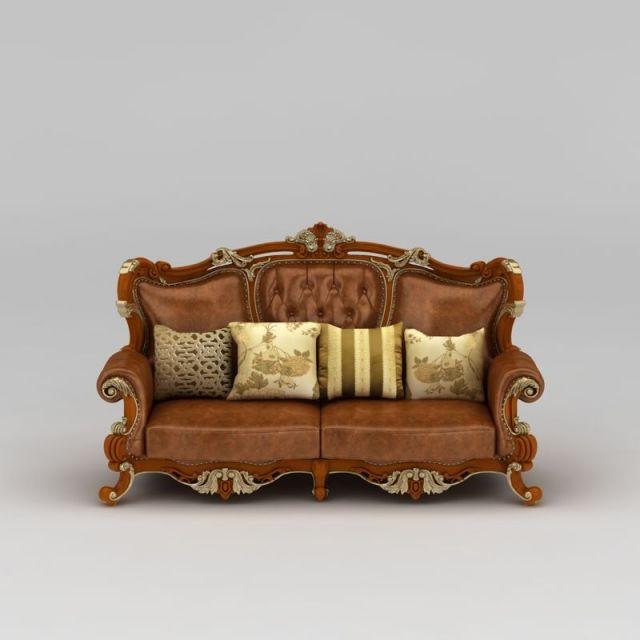 精美欧式实木雕花沙发