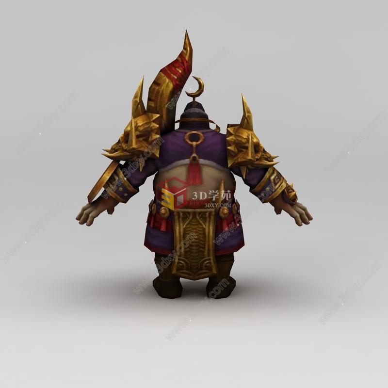 凤舞三国游戏人物动漫角色战士模型