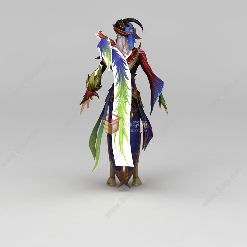 精灵男动漫游戏角色模型