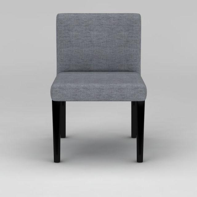 简易灰色布艺餐椅