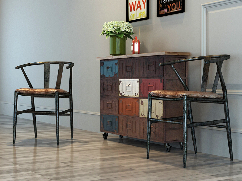 loft工业风桌椅套装
