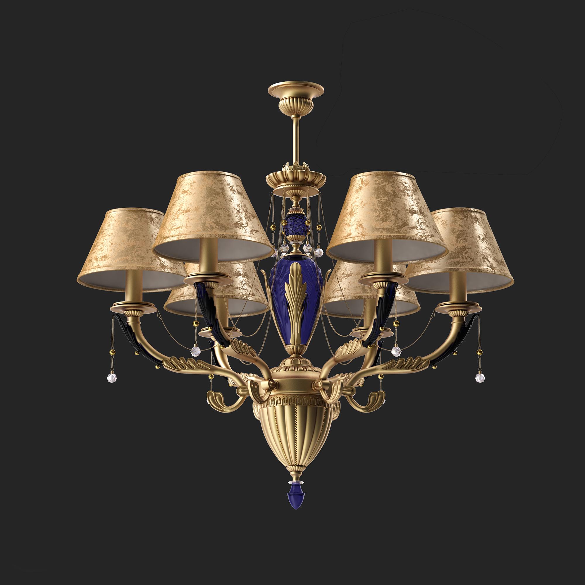 欧式豪华金色印花吊灯