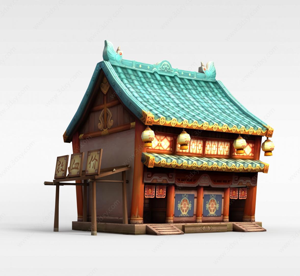 3d游戏场景房屋建筑模型
