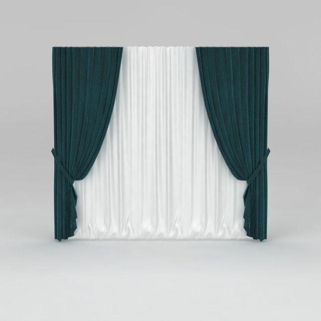 现代拼色窗帘