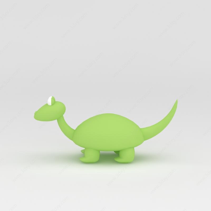 器材设备3d模型 儿童器材3d模型 玩偶儿童玩具绿色小恐龙3d模型