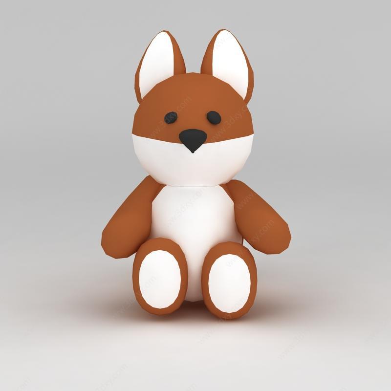 儿童玩具玩偶小熊模型