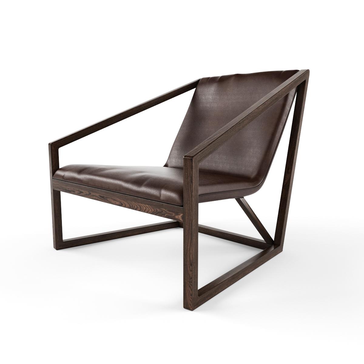 北欧实木休闲椅子