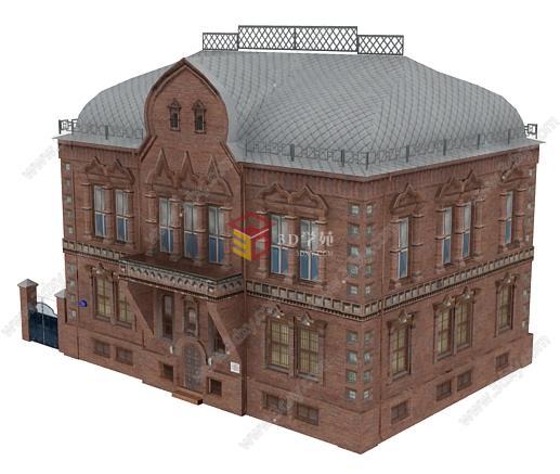 欧式居民楼建筑