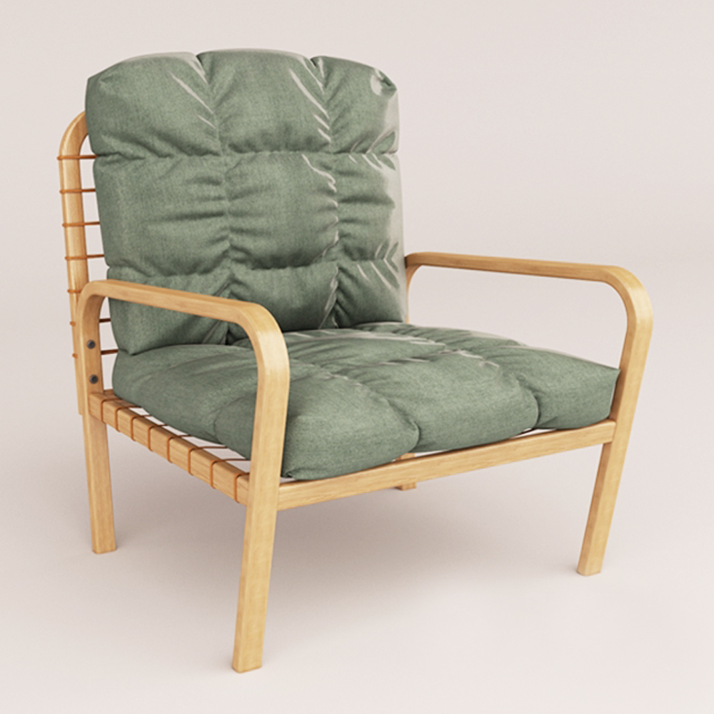 时尚实木软包休闲椅