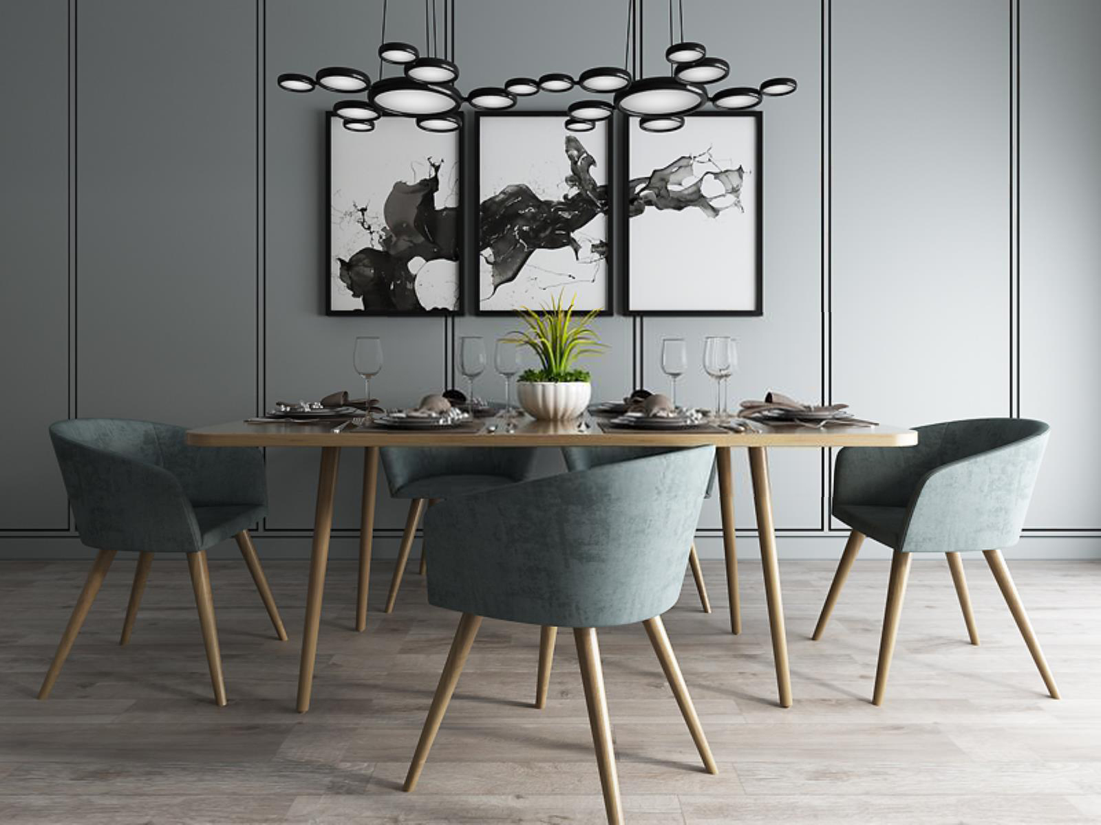 现代时尚简约餐桌椅组合