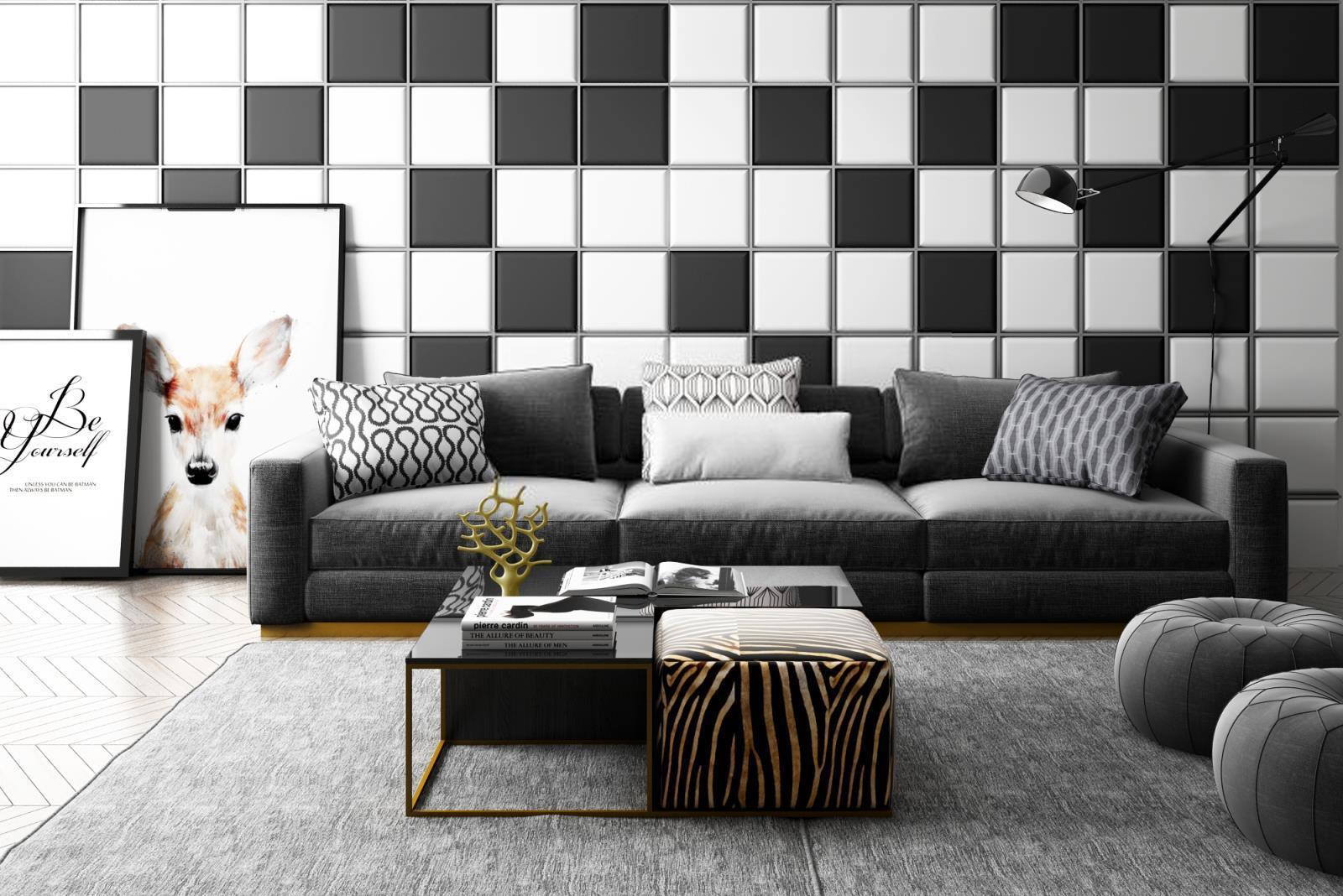中式时尚灰色沙发茶几组合