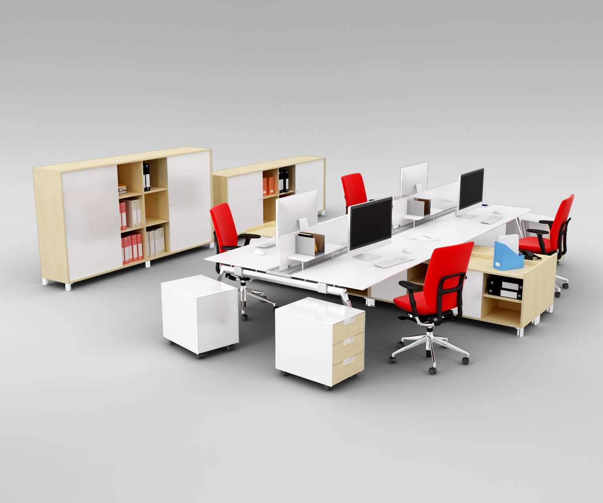 时尚精品办公室桌椅家具组合