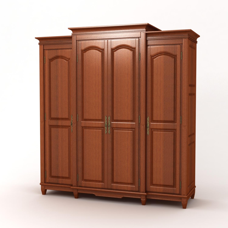 简约实木四门衣柜