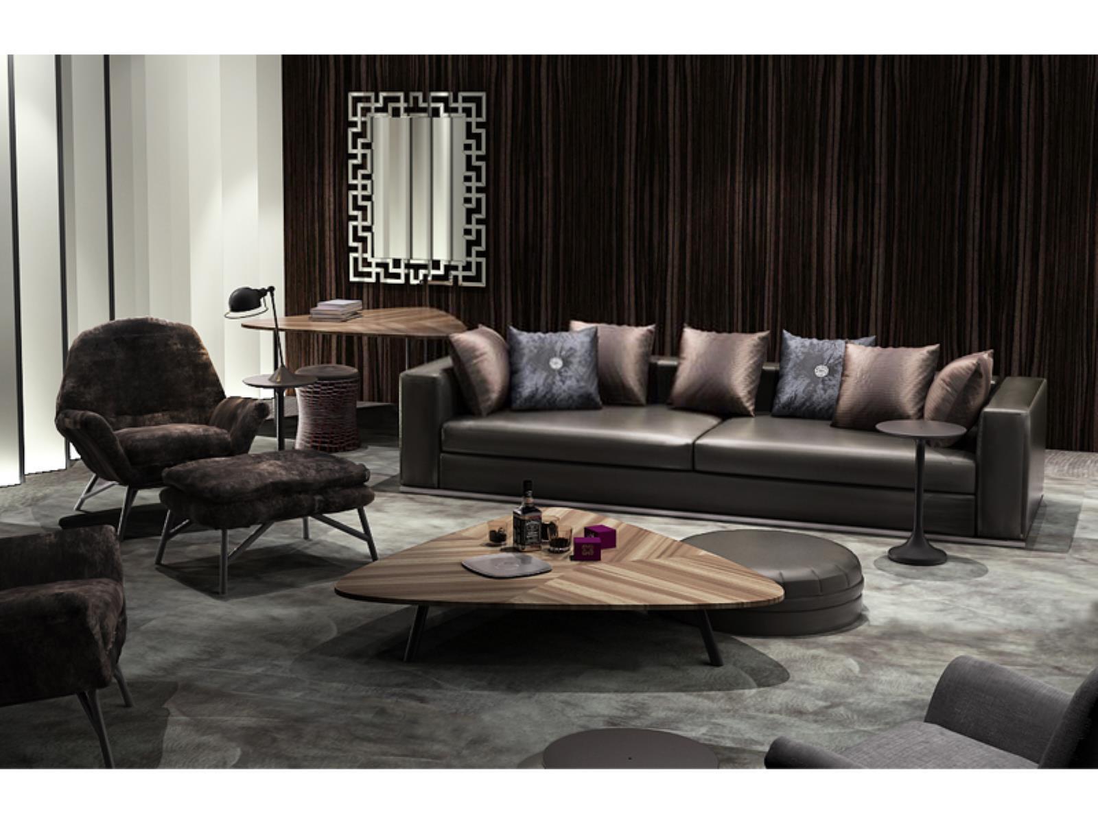 高档客厅真皮沙发茶几组合
