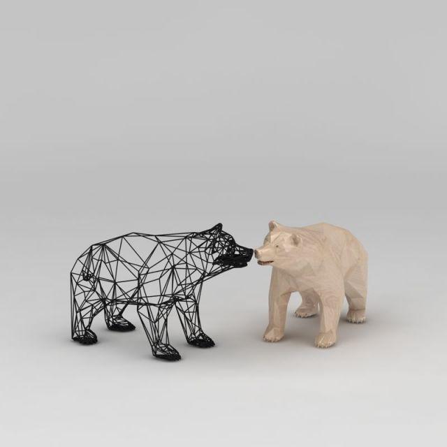 熊工艺摆件
