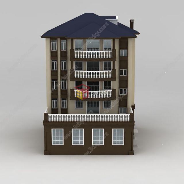 欧式四层别墅模型