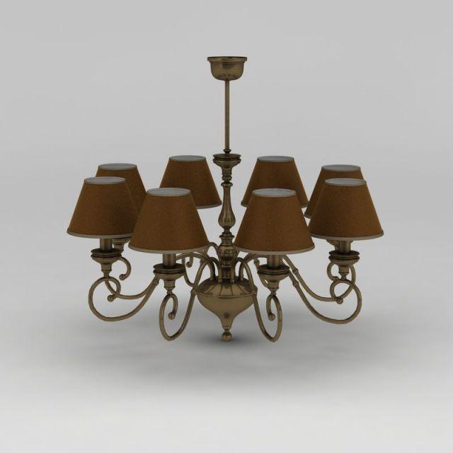 客厅全铜八头吊灯