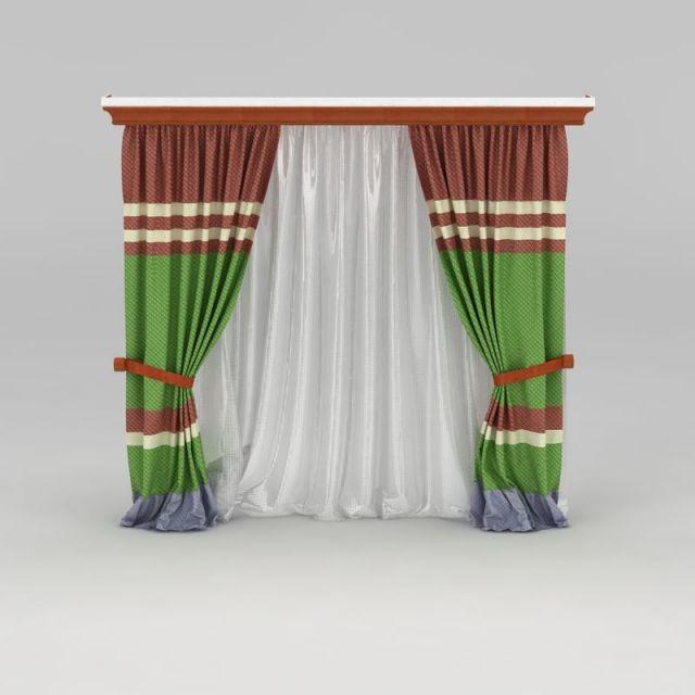 美式双层窗帘
