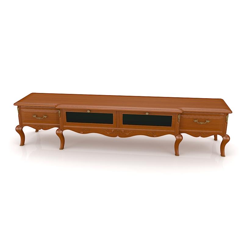 简美式实木电视柜