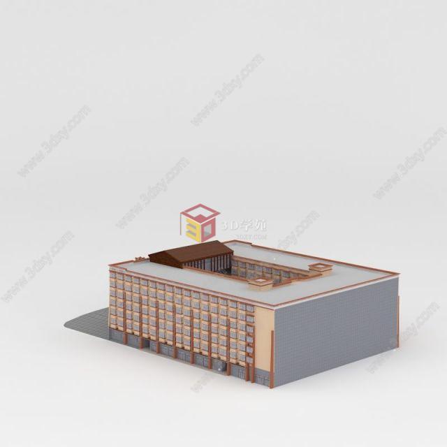 藏式大型酒店模型图片