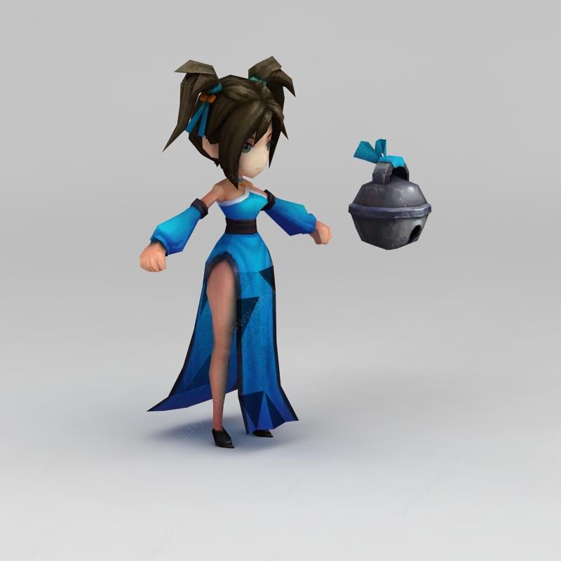 小美女游戏人物模型