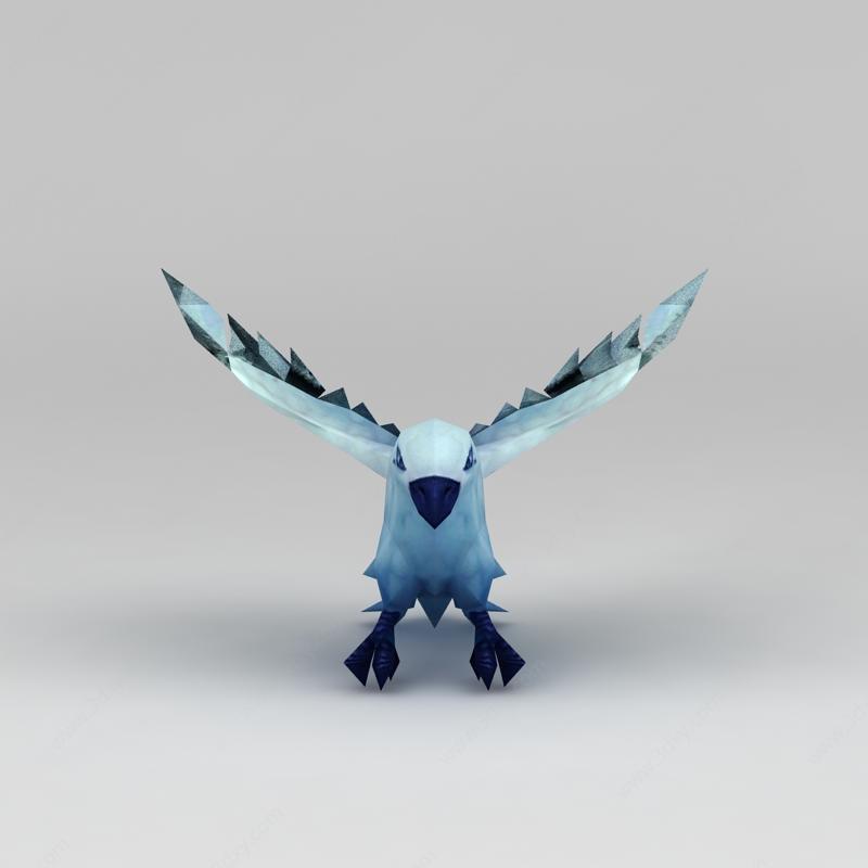 游戏素材大鸟模型