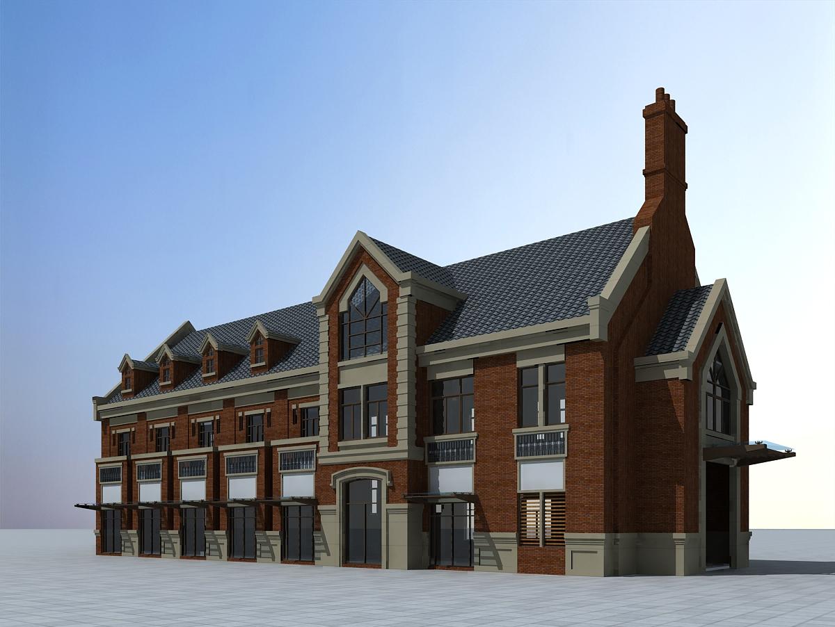欧式商业建筑楼