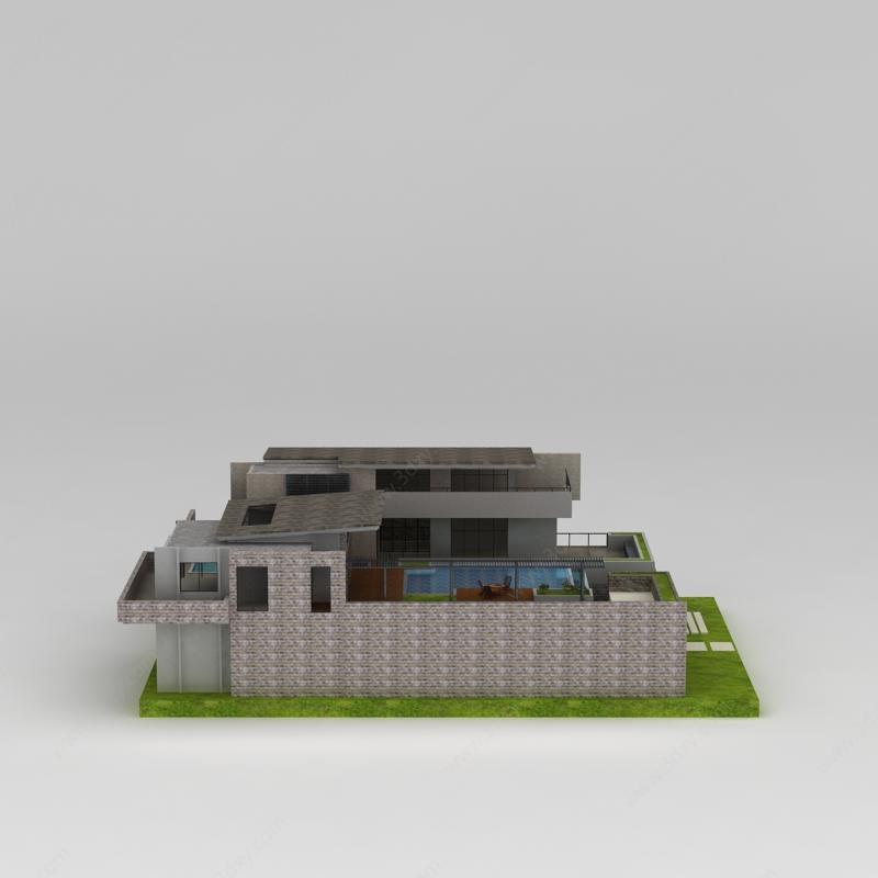 青磚別墅模型