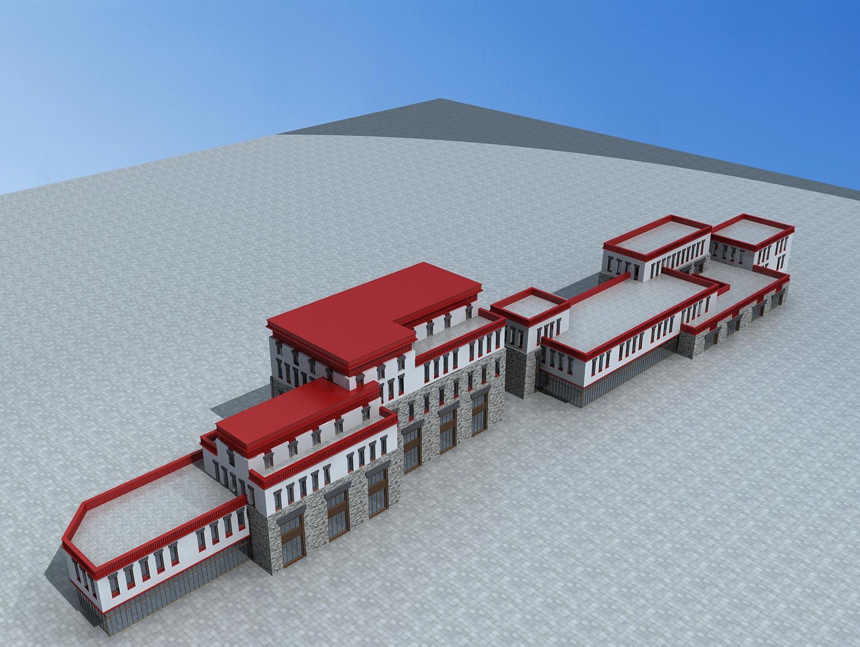 藏式商业建筑