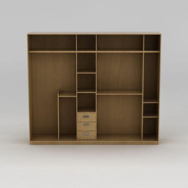 卧室实木衣柜