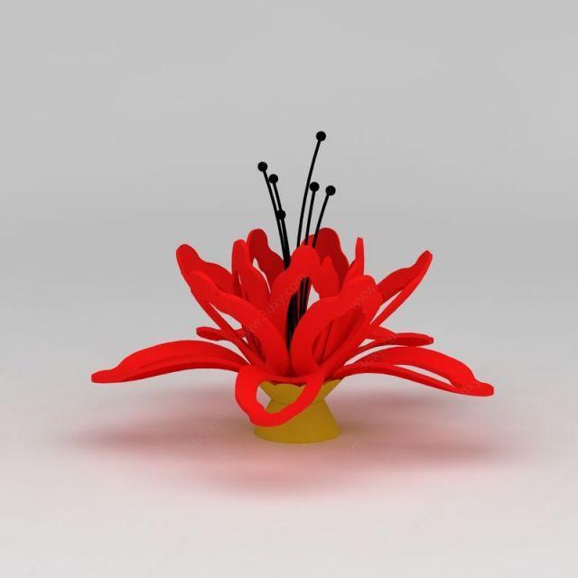 木棉花雕塑模型