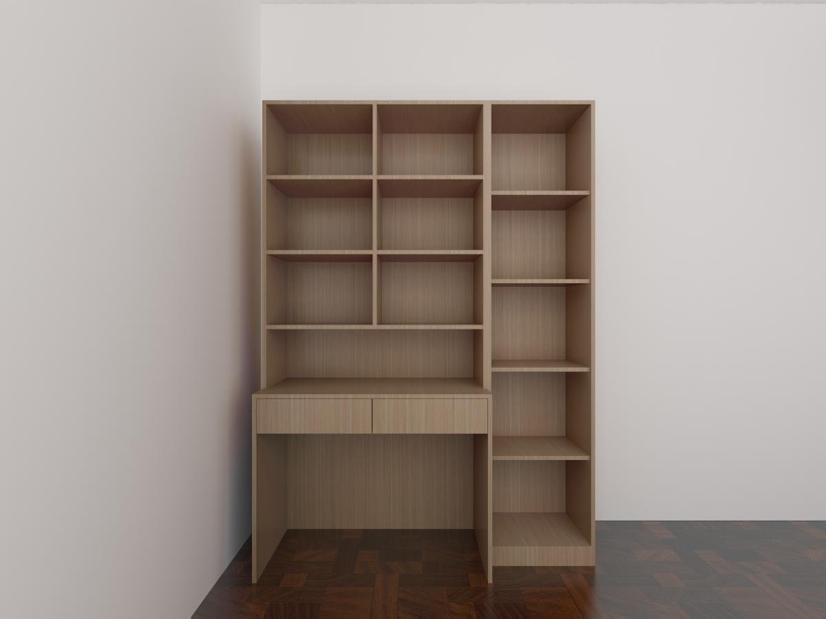 实木简约书柜