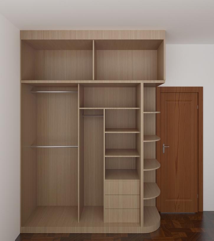 卧室实木整体衣柜