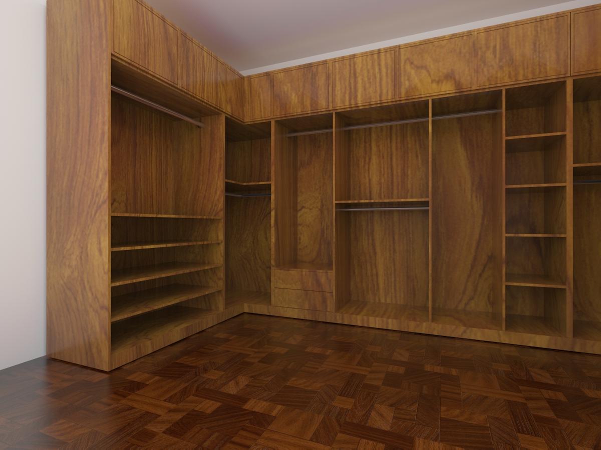 实木转角衣柜