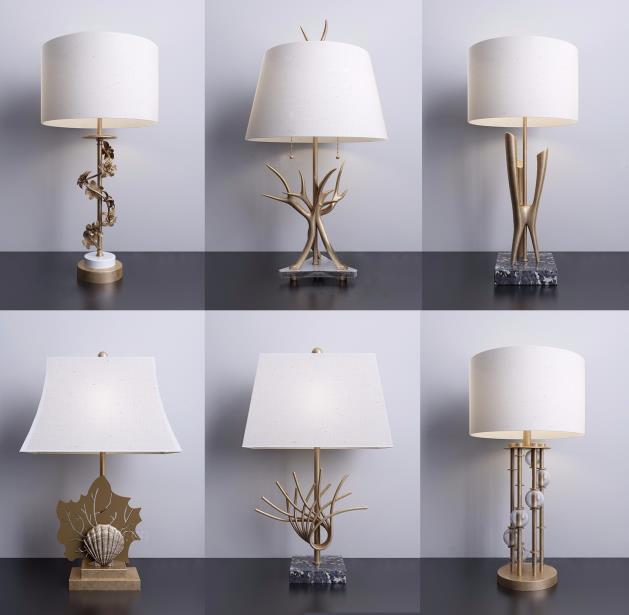 现代客厅创意台灯
