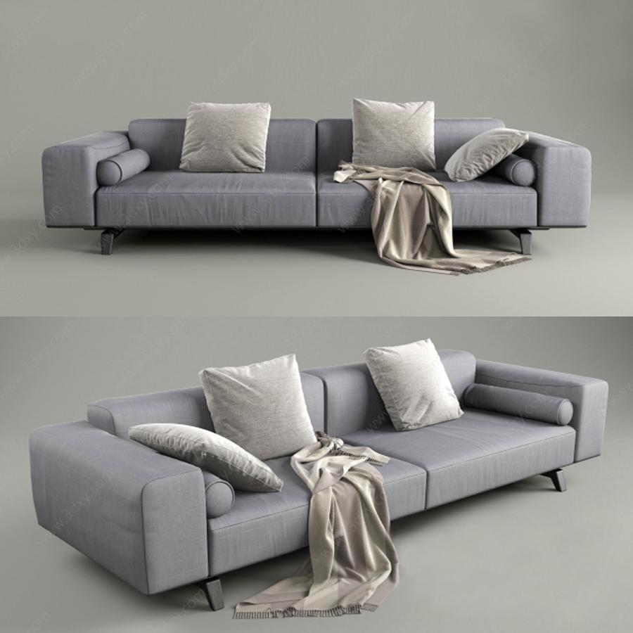低调灰色双人沙发