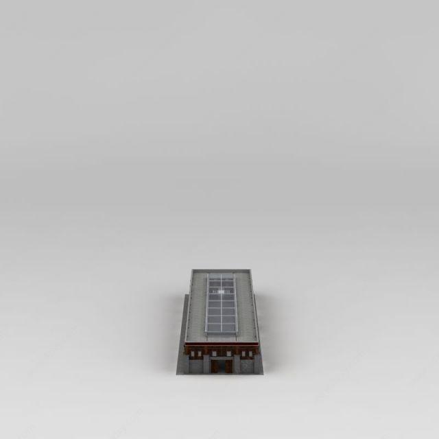 藏式商业楼模型图片