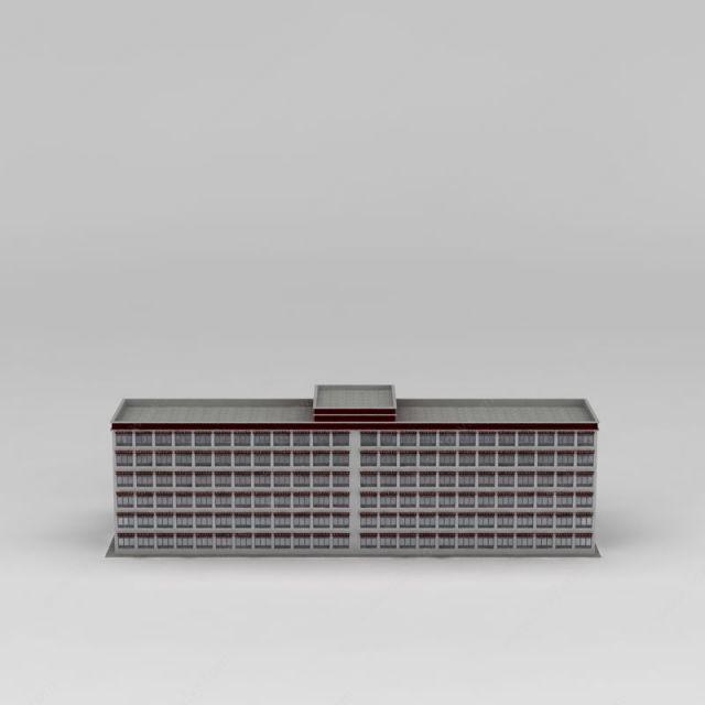 藏式酒店模型图片