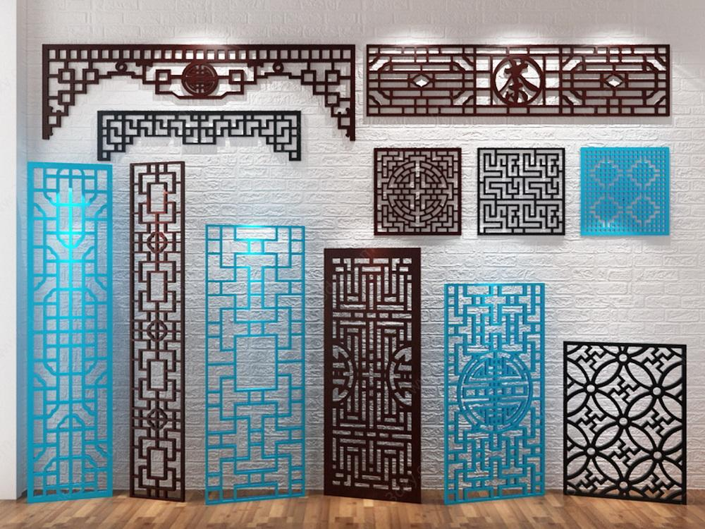 中式雕花隔断