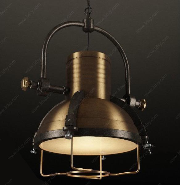 工业风吊灯模型