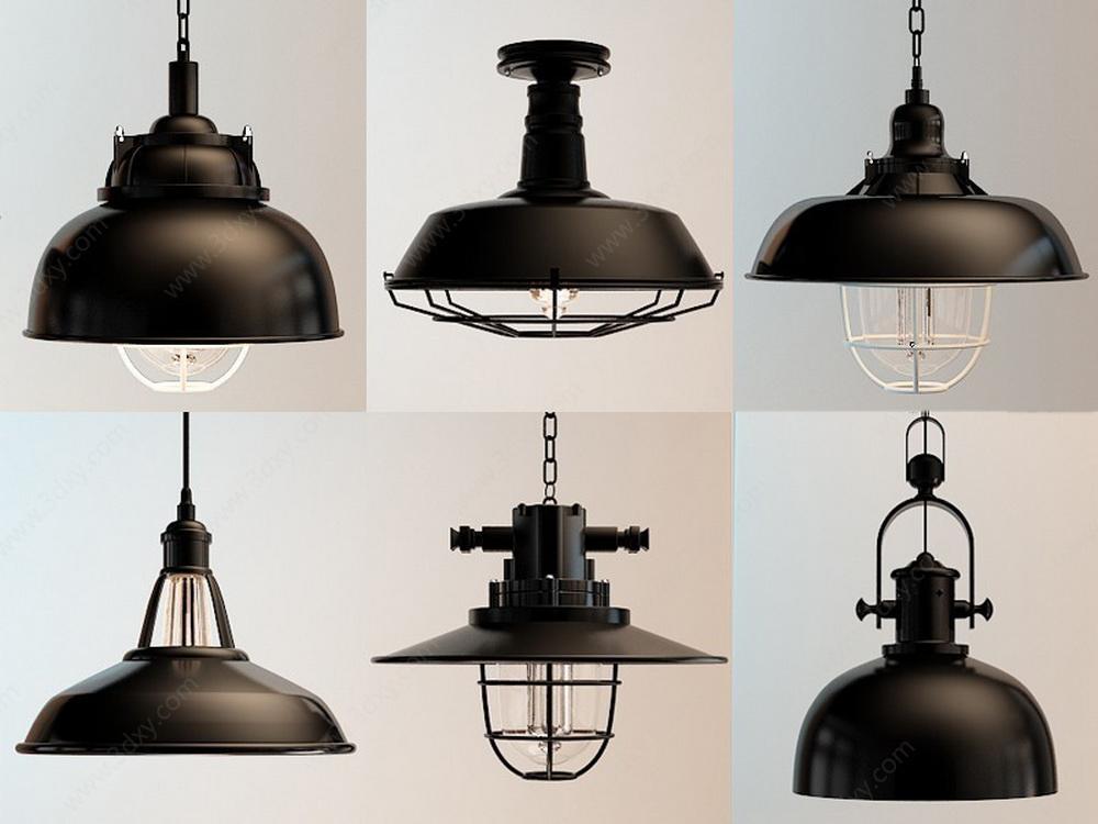 美式复古工业吊灯