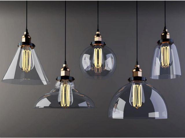 复古工业风玻璃吊灯