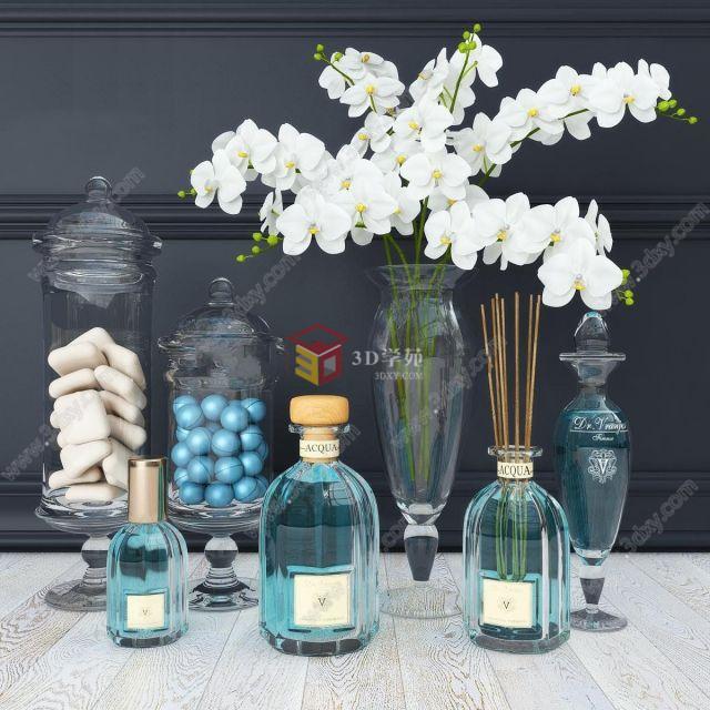 现代香薰瓶花瓶摆件组合