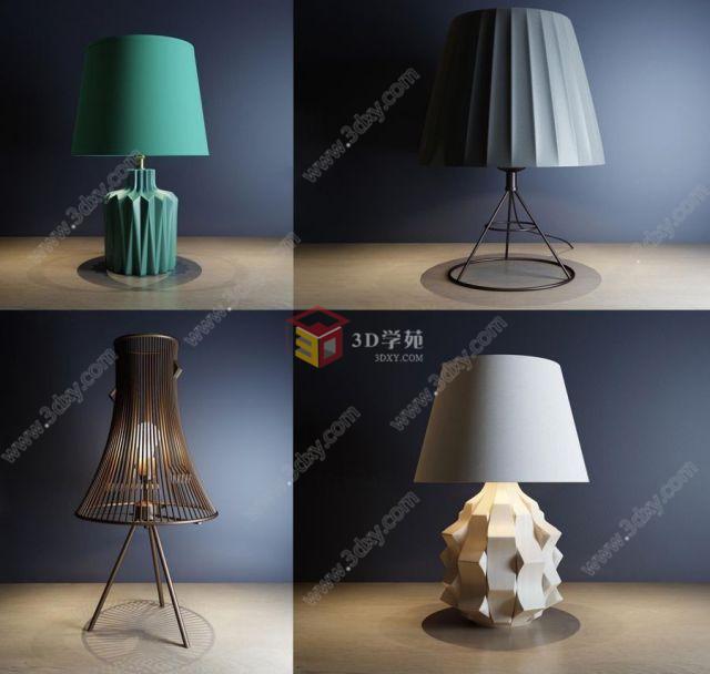 现代艺术台灯组合