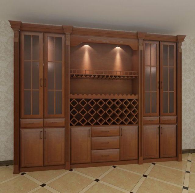 家庭实木酒柜