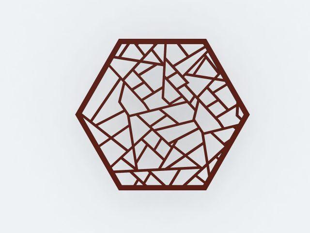 六边形花格隔断
