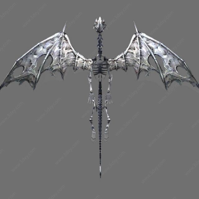 qq游戏免费下载2011_3d飞龙化石怪物模型,飞龙化石怪物3d模型下载_3D学苑