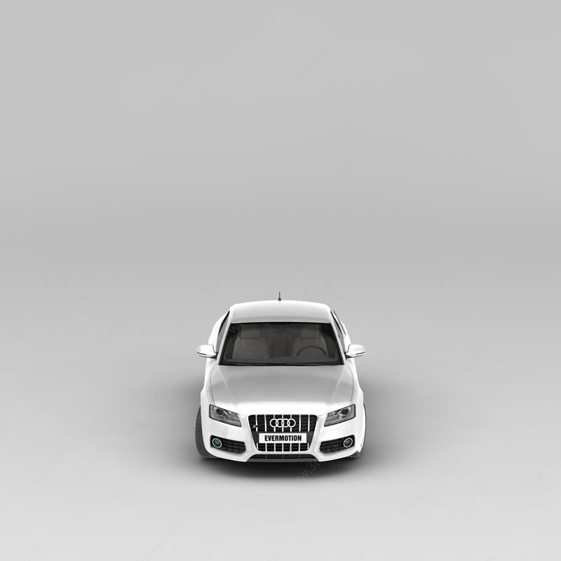 奥迪银色汽车模型